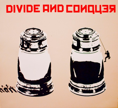 """Divide and Conquer Screen Print 22 X 24"""" 2011"""