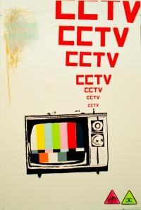 "CCTV UV Screen Print 30 X 44"" 2011"