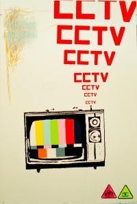 "CCTV UV Screen Print 30 X 44"" 2011"