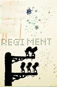 "Regiment UV Screen Print 30 X 44"" 2011"