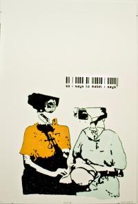 """Mabel II UV Screen Print 30 X 44"""" 2011"""