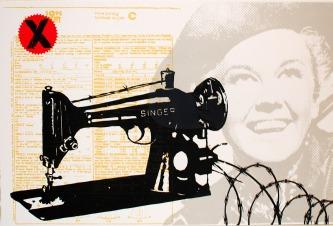 "Singer UV Screen Print 12 X 18"" 2012"