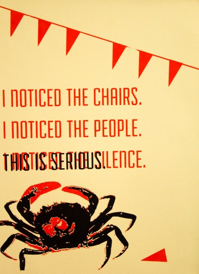 """This is Serious Screen Print 11 X 15"""" 2013"""