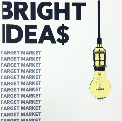 """Bright Ideas II Screen Print 20 X 20"""" (24 X 24"""" framed) 2015"""