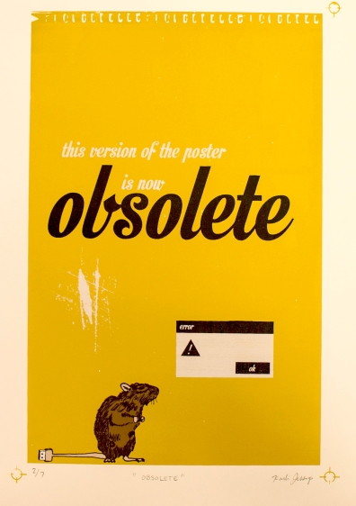 Obsolete Screen print on Stonehenge paper 15X19 inches