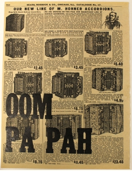 Oom Pa Pah Letterpress on advertisement from 1908 8.25X11 inches