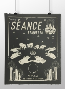 Seance print mock up